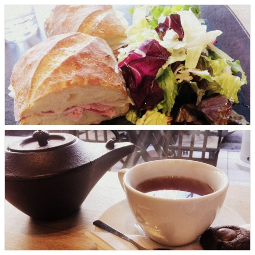 Tea and sandwich