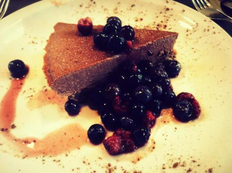raw chocolate tart
