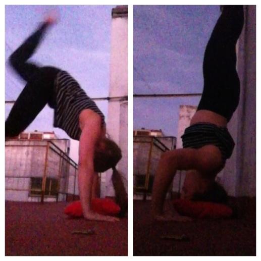 Rooftop Handstands