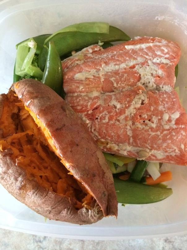 Salmon sweet potato