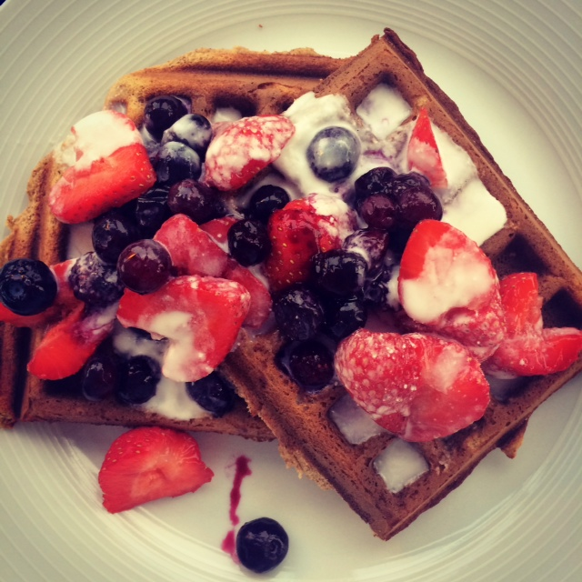 Paleo Kitchen Banana Bread Waffles