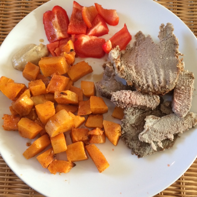 beef butternut squash pepper