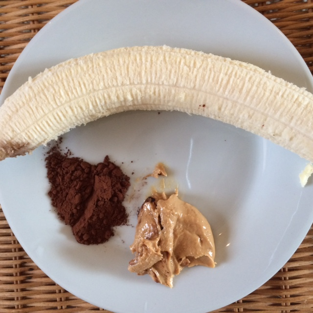 banana nut butter cocoa powder