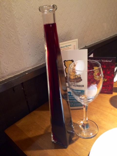 vase of wine